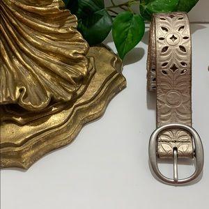 Fossil Gold Metallic Women's Belt